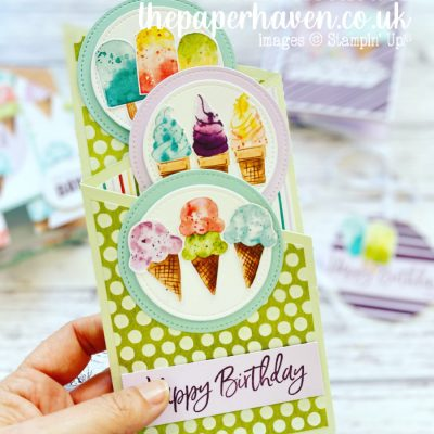 Card made with the Sweet Ice Cream suite
